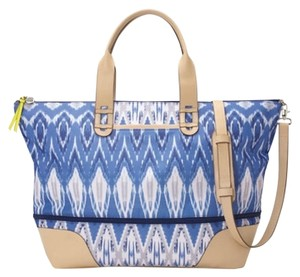 Stella & Dot Indigo Ikat Travel Bag