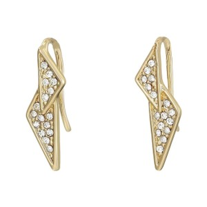 Rebecca Minkoff Gold & Pave Crystal Double Triangle Earrings