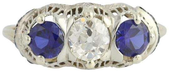 Preload https://img-static.tradesy.com/item/22557531/art-deco-diamond-and-synthetic-sapphire-18k-white-gold-vintage-2-ring-0-1-540-540.jpg