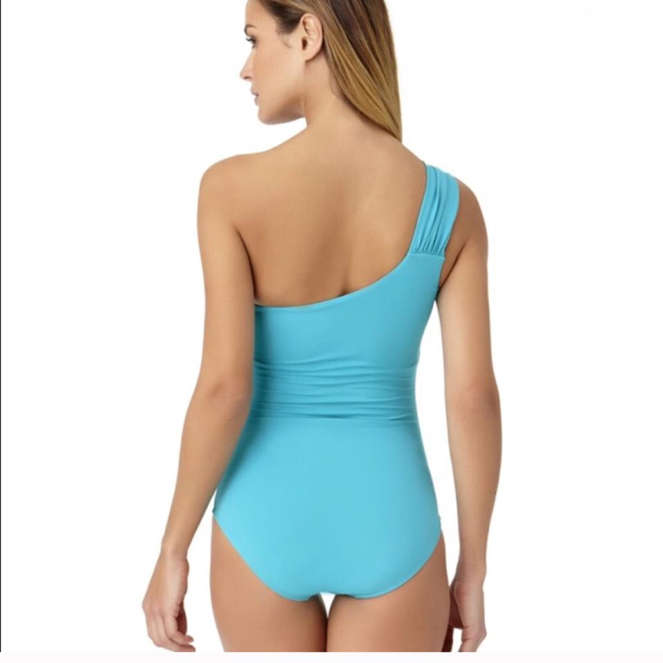 29920089d6 Anne Cole Turquoise Swimsuit One-piece Bathing Suit Size 8 (M) - Tradesy