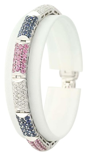 Preload https://img-static.tradesy.com/item/22557725/sapphire-and-diamond-bracelet-6-34-18k-white-gold-blue-and-pink-1152c-necklace-0-1-540-540.jpg