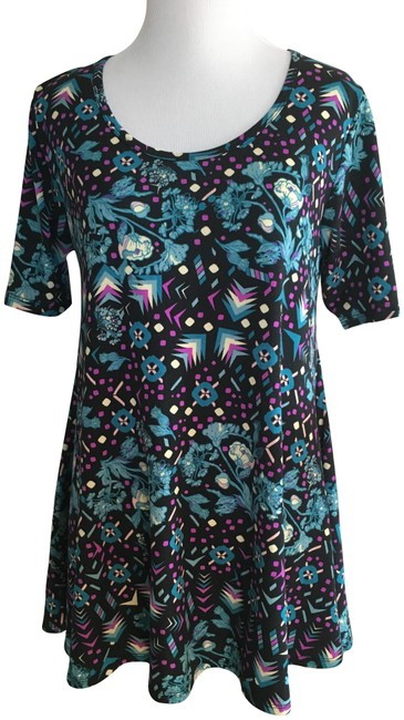 Preload https://img-static.tradesy.com/item/22557816/lularoe-black-blue-purple-cream-perfect-t-blouse-size-00-xxs-0-2-650-650.jpg