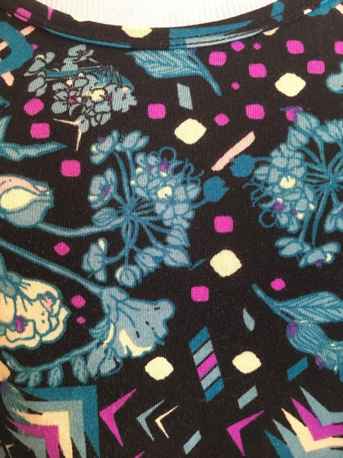 LuLaRoe Perfect T Top black blue purple cream