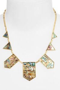 House of Harlow 1960 Abalone Station Necklace