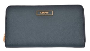 DKNY ,Dkny,Donna,Karan,Spruce,Green,Saffiano,Leather,Zip,Around,Clutch,Wallet
