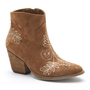 Coconuts by Matisse Western Leather Vintage Embroidered Tan Boots