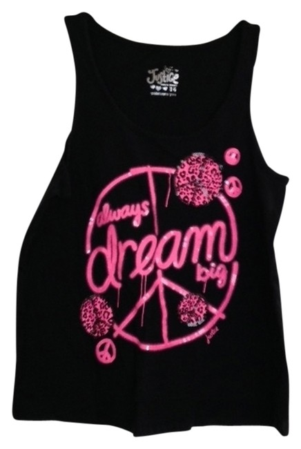 Item - Black with Pink Tank Top/Cami Size 14 (L)