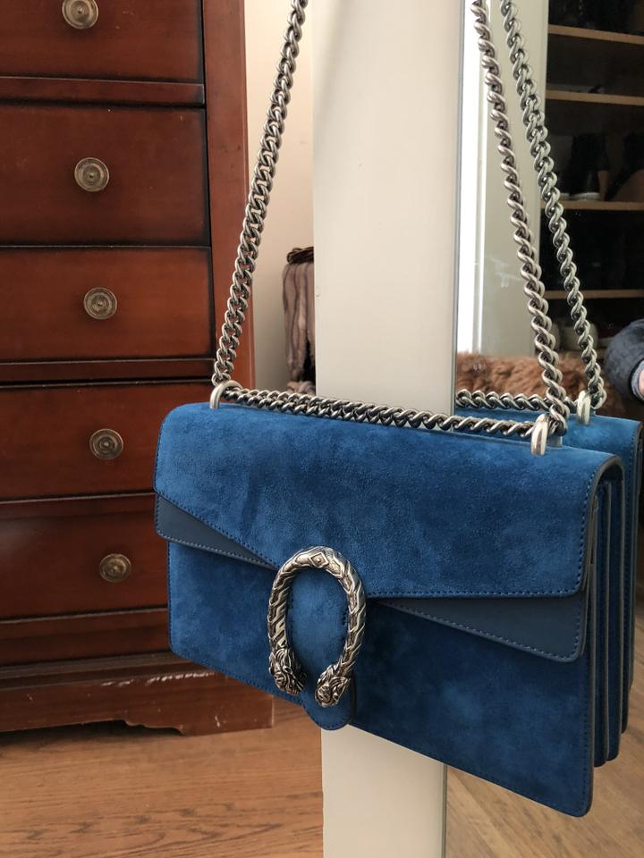 098221c92 Gucci Dionysus Small Blue Suede with Leather Shoulder Bag - Tradesy