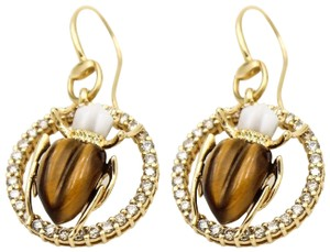 Gucci GUCCI Scarab Hook Earrings in 18k Yellow Gold with Diamonds
