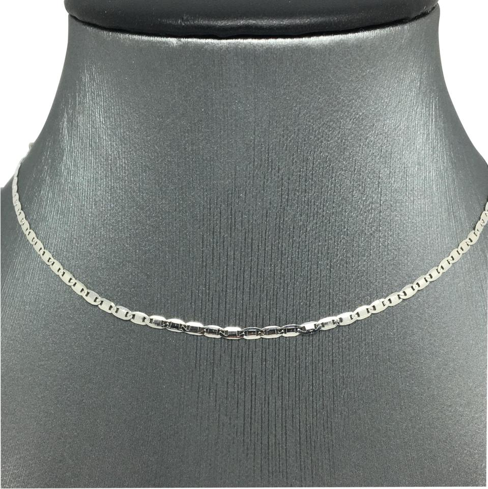 18k White Gold Flat Mariner Chain 16 Inches Necklace - Tradesy