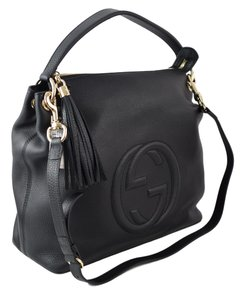 b50525133d786 Gucci Soho 408825 with Detachable Strap Black Leather Hobo Bag - Tradesy