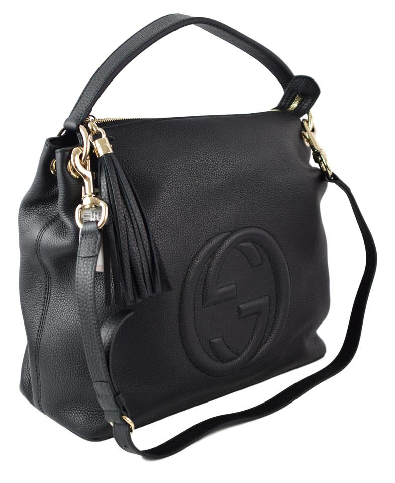 97c48f08083 Gucci Soho 408825 with Detachable Strap Black Leather Hobo Bag - Tradesy