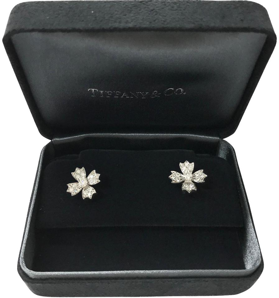 645e7c769 Tiffany & Co. Platinum Co .70ct Diamond Floret Snowflake Stud ...
