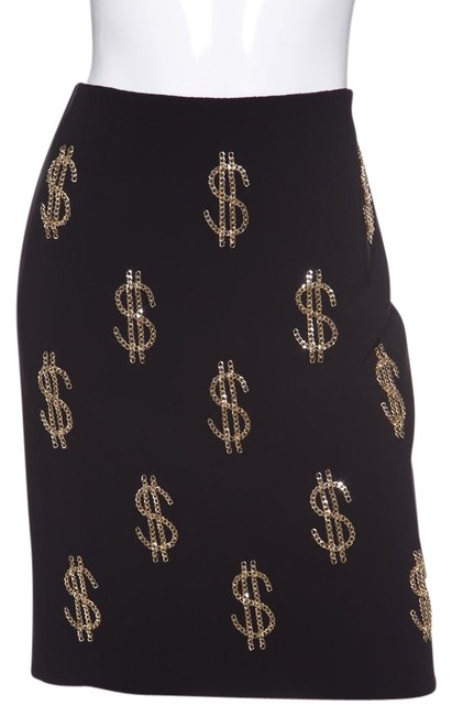Preload https://img-static.tradesy.com/item/22559072/moschino-black-couture-and-gold-tone-chain-dollar-sign-skirt-size-8-m-29-30-0-1-650-650.jpg
