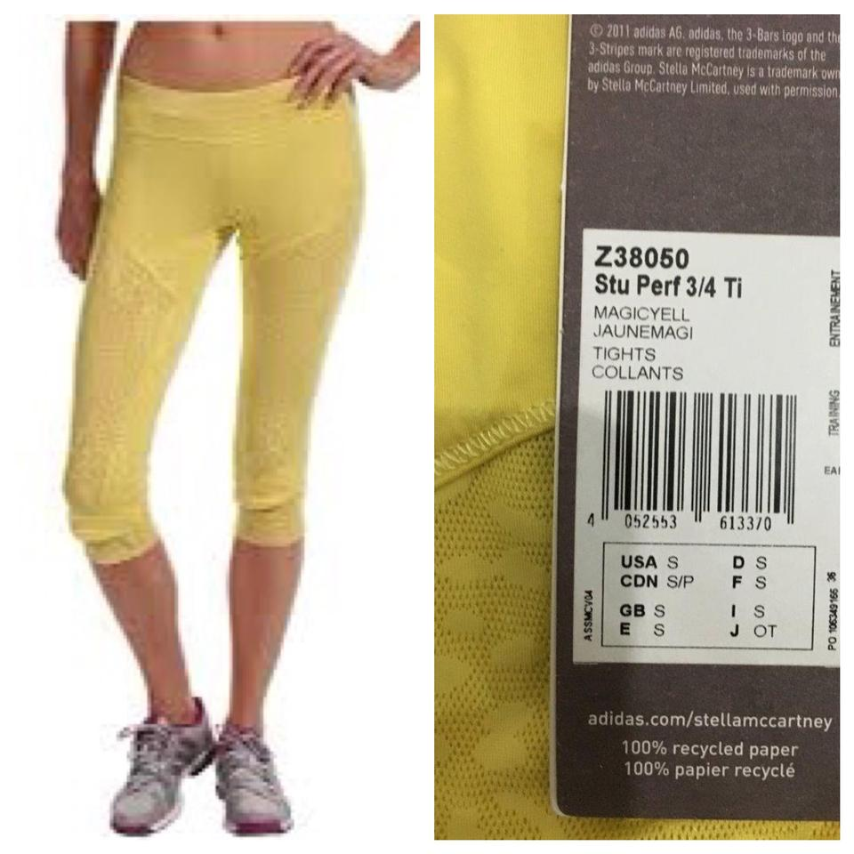 outlet online available new styles adidas By Stella McCartney Yellow Studio Performance 3/4 Tights Collants In  Animal Print Activewear Bottoms Size 2 (XS, 26) 63% off retail