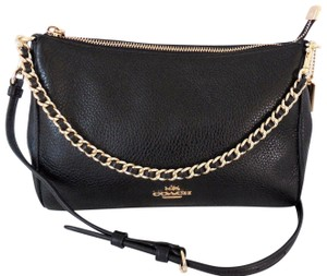 Coach Leather Carrie Cross Body Bag