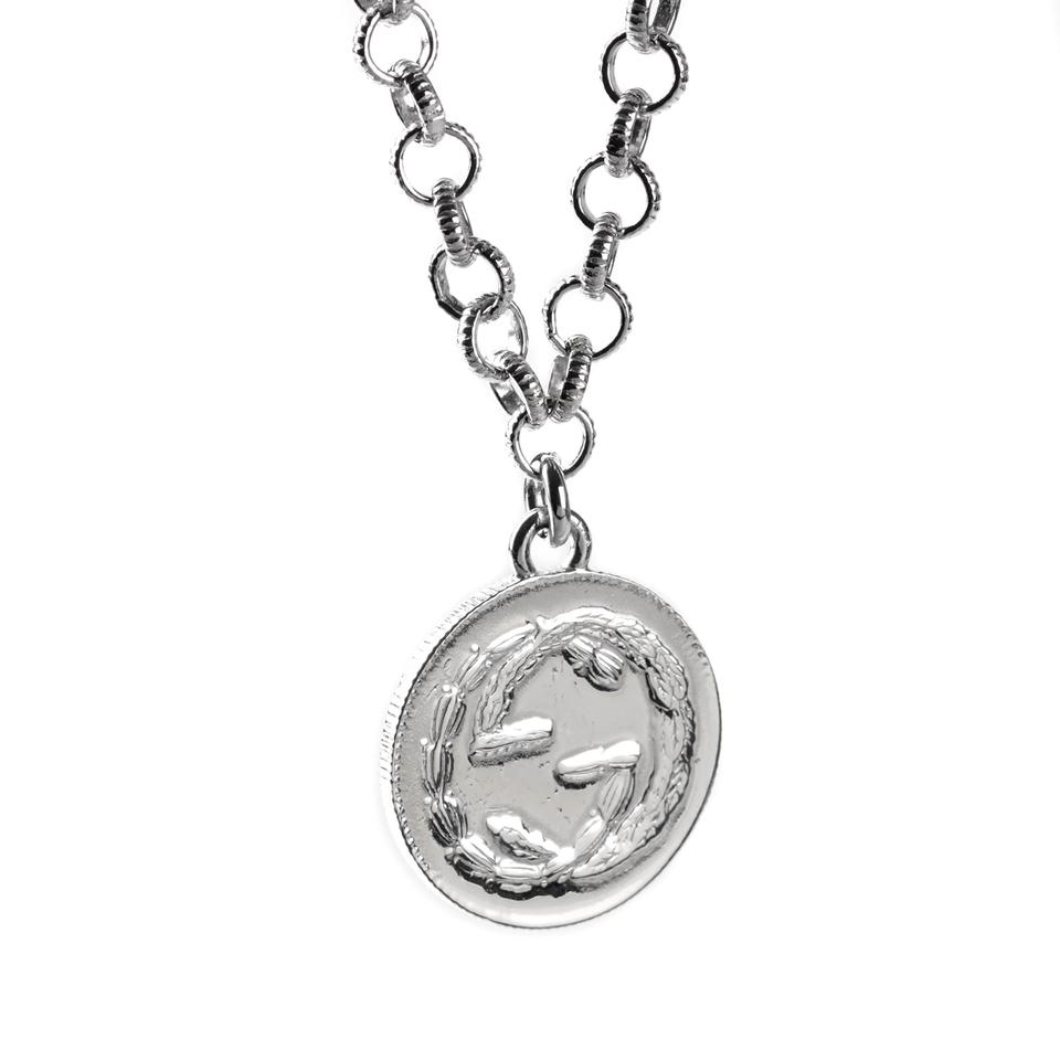 8966d7b14 Gucci Gucci Double G Bee Coin Silver Necklace Image 2. 123