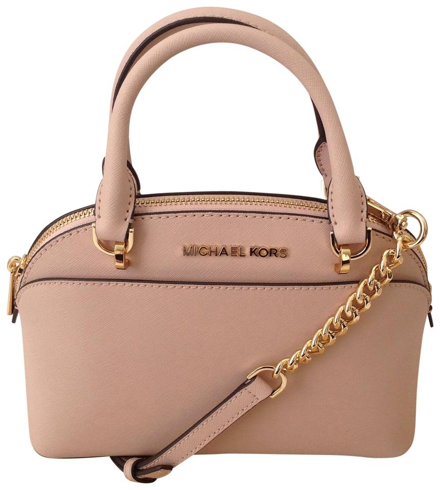 665c93c8440a Michael Kors Emmy Small Dome Crossbody Ballet Pink Leather Satchel ...