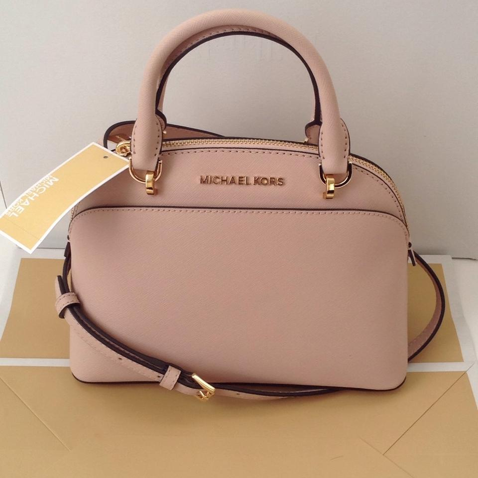 c3b57e95cd42 Michael Kors Emmy Small Dome Crossbody Ballet Pink Leather Satchel - Tradesy
