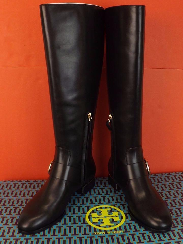 Reva Riding Booties Belted Boots Burch Black Sofia Tory Leather Tall Buckle WRCgPqxffw