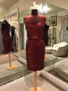 Jenny Yoo Claret Sequin Emery Formal Bridesmaid/Mob Dress Size 4 (S)