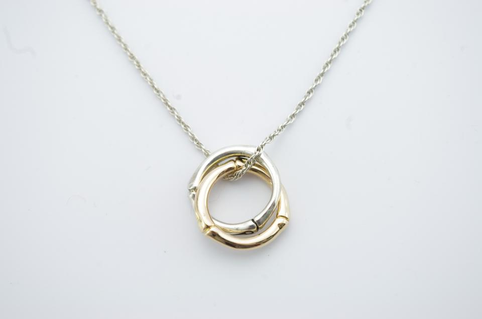 John hardy 18k yellow gold sterling silver bamboo pendant necklace 123 aloadofball Image collections