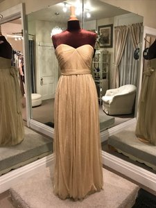 Jenny Yoo Metallic Gold Tulle Annabelle Formal Bridesmaid/Mob Dress Size 10 (M)