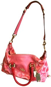 Coach Madison Top Handle Satchel in Coral