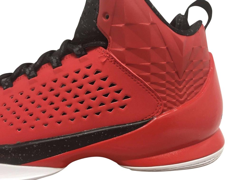 various colors 7ab89 73090 Nike Red White Black Air Jordan Melo M11 Basketball Ds Sneakers
