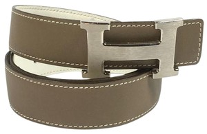Herms Authentic Hermes Reversible H Buckle Belt