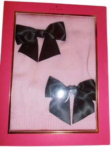 Kate Spade Kate Spade pink Scarf with black Bows - girls- in gift box