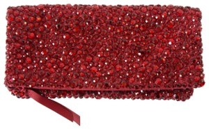 Banana Republic Holiday Sparkle Party Red Clutch