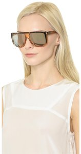 Gucci NEW Gucci GG 3705/S Orange Mirrored Stud Flat Top Oversized Sunglasses