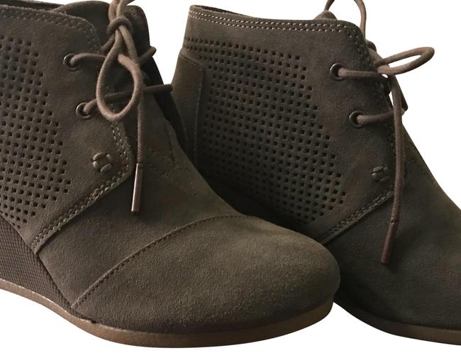 Item - Olive Suede Desert Wedge Boots/Booties Size US 6.5 Regular (M, B)