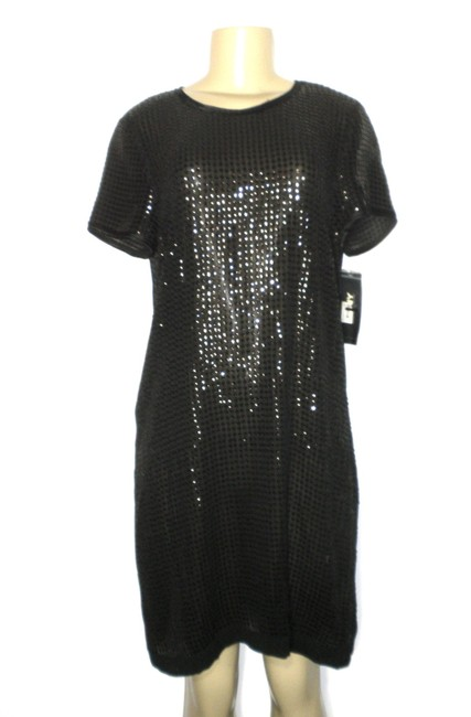 DKNY Black Sequin - New with Tags Mid-length Night Out Dress Size 10 (M) DKNY Black Sequin - New with Tags Mid-length Night Out Dress Size 10 (M) Image 1