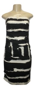 Nicole Miller Print Strapless Fitted Dress
