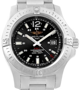 Breitling Breitling Colt Black Baton Dial Automatic Steel Mens Watch A17388