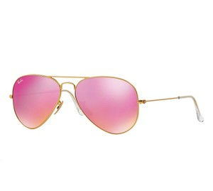 Ray-Ban Gold Aviator w/ Pink Mirror Lens RB 3025 112/4T - FREE 3 DAY SHIPPING
