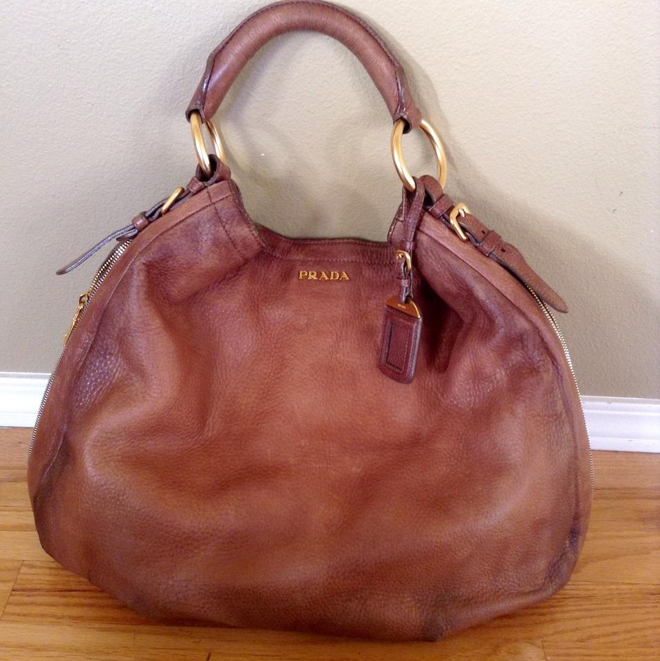 70c902ddcc82 Prada Lux Cervo Jumbo Brown Deerskin Leather Hobo Bag - Tradesy