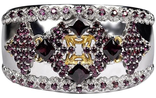 Preload https://img-static.tradesy.com/item/22560591/ny-collection-two-tone-womens-garnet-gemstone-luxury-cuff-bangle-sterling-silver-7-bracelet-0-1-540-540.jpg