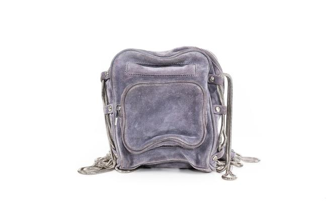Item - Small Grey Suede Leather Cross Body Bag