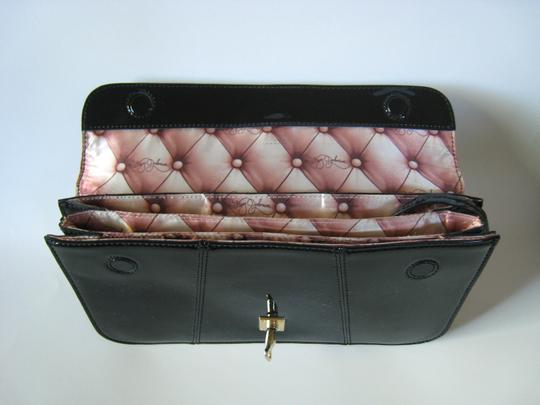 Betsey Johnson Black/Gold Hardware Clutch