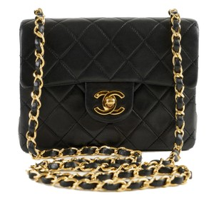 Chanel Rare Timeless Logo Cc Mini Cross Body Bag