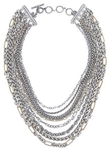David Yurman David Yurman 18k Yellow Gold Sterling Silver Multi Chain Necklace.