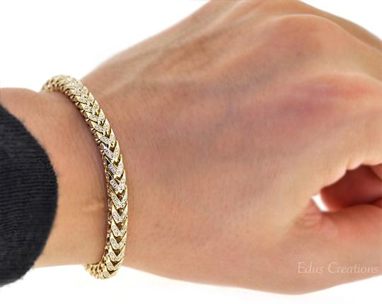 NY Collection Franco Box Iced Out Genuine Diamond Links Mens Real 14K Gold Hip Hop Image 1
