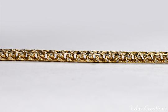 NY Collection Franco Box Iced Out Genuine Diamond Links Mens Real 14K Gold Hip Hop Image 4