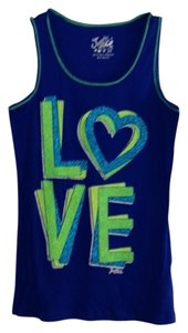 Justice Top Royal Blue with Green