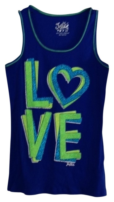 Preload https://item2.tradesy.com/images/justice-royal-blue-with-green-shirt-tank-topcami-size-16-xl-plus-0x-2256086-0-0.jpg?width=400&height=650