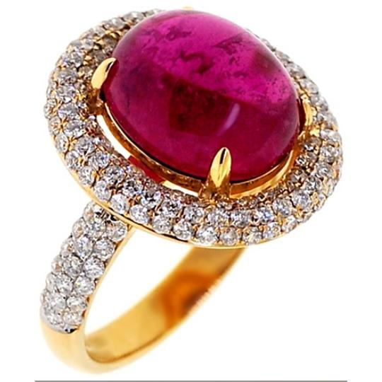 Preload https://img-static.tradesy.com/item/22560922/ny-collection-yellow-womens-cabochon-genuine-pink-tourmaline-diamond-cocktail-18k-gold-ring-0-0-540-540.jpg