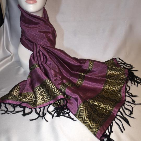 Other Indian Rose Woven Textile Wrap / Scarf [ Roxanne Anjou Closet ]